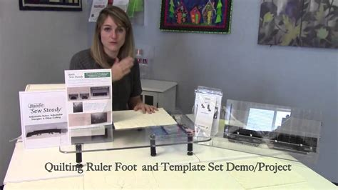 ruler foot and template set free motion ruler foot template starter set