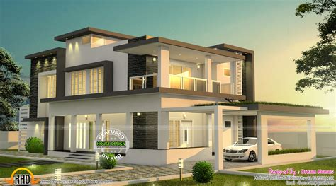 modern houses plans beautiful modern house in tamilnadu kerala home design