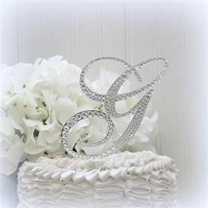 5quot wedding cake topper monogram initial cake toppers bling With bling letter cake toppers