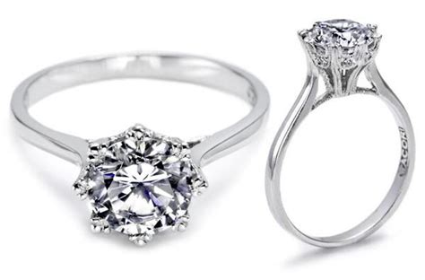Single Solitaire Diamond Engagement Ring And Wedding Band