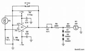 Contrast Meter - Measuring And Test Circuit