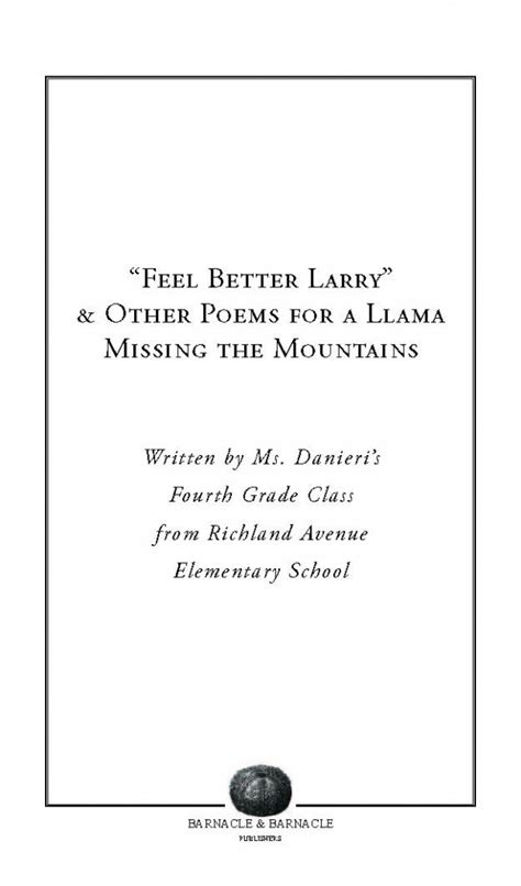 "Field Trip Book Of The Week ""feel Better Larry"" & Other"