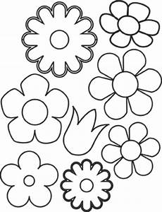 easy flower coloring pages - easy flower coloring pictures