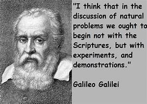 Famous Quotes From Galileo Galilei. QuotesGram