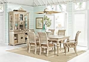 key west sand beige  pc rectangle dining room slat