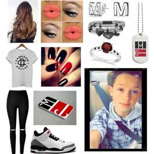 garnet stud earrings jacob sartorius polyvore