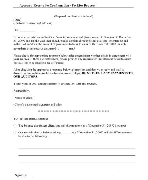 sample confirmation letters