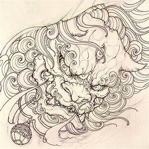 Collection of 25+ Foo Dog Tattoo Design