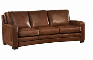 joanna full top grain brown leather sofa With brown leather sofa