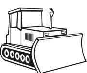 coloriage bulldozer gratuit  imprimer liste