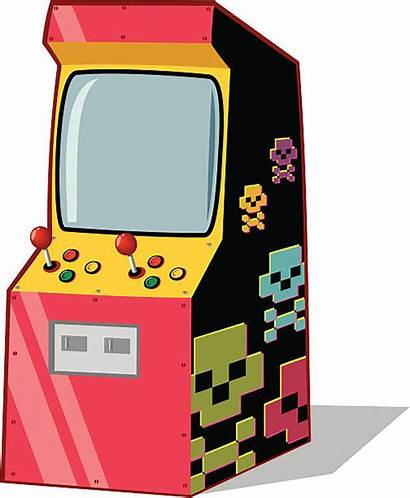 Arcade Machine Vector Clip Illustrations Classic Graphics