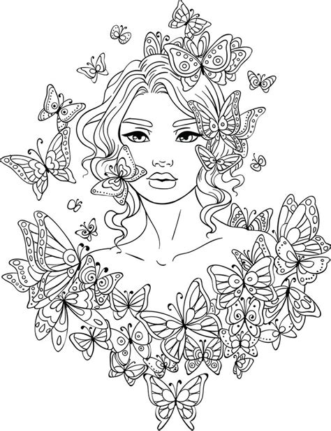 beautiful women coloring pages  adults ideas
