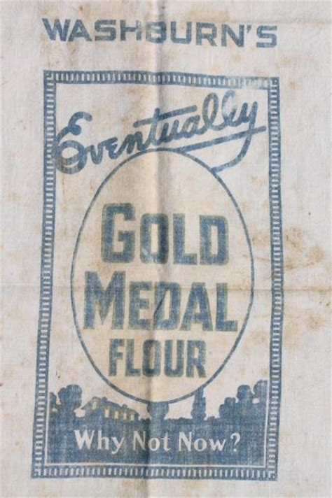 vintage gold medal flour sack  cotton feedsack fabric