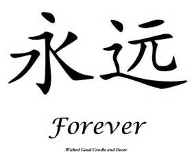 Chinese Symbol Forever Love Tattoo