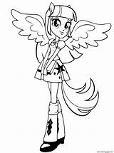 Coloring Twilight Sparkle Pages Rarity Printable sketch template
