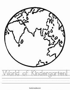 World Of Kindergarten Worksheet Twisty Noodle