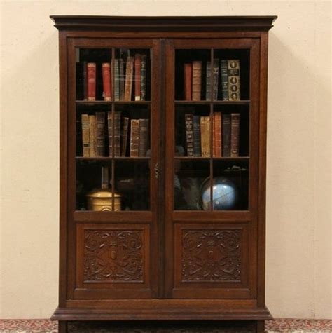 wood bookcase with glass doors antique wood bookcase glass doors interior home decor