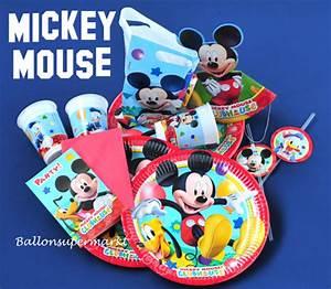 Mickey Mouse Geburtstag : party set mickey mouse partydekoration kindergeburtstag ballonsupermarkt ~ Orissabook.com Haus und Dekorationen