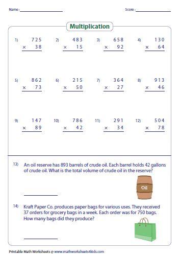 Pre School Worksheets » Multiplication Patterns With Zeros Worksheets  Free Printable