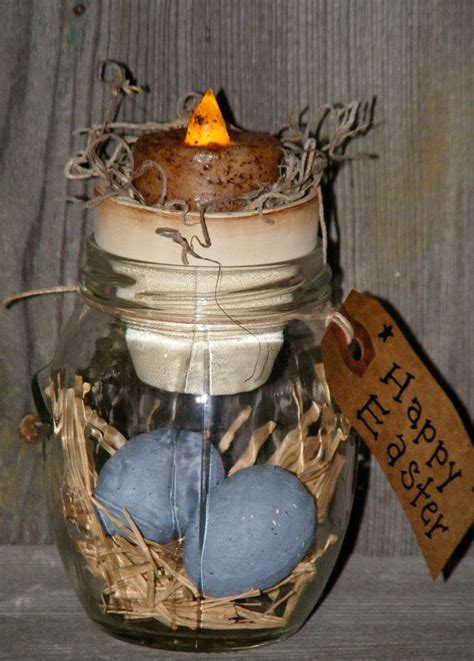 Primitive Easter Home Decor by Primitive Easter Decor With Led Tealite Led Easter