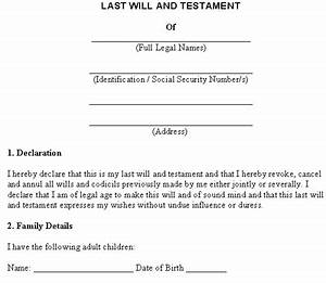 Last will and testament free template for Joint will and testament template