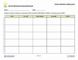 action brainstorming worksheet coaching tools from the With free life coaching templates
