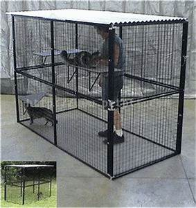 Top cats dog kennels and dog cages on pinterest for Dog run cage enclosure