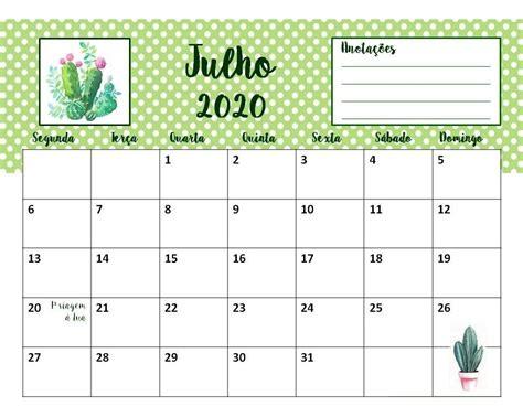 calendario cactos suculentas flor planner mensal