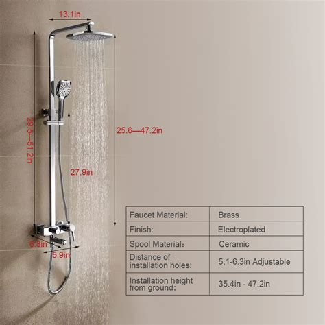 Outdoor Exposed Shower Faucet by Modern Designed Outdoor Exposed Shower Faucet System