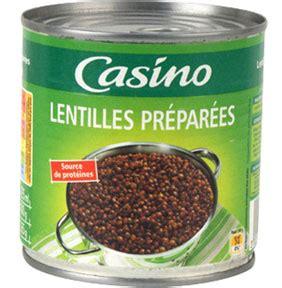 cuisiner des lentilles en boite lentilles préparées casino en boite