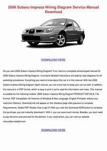 2006 Subaru Impreza Wiring Diagram Service Ma By