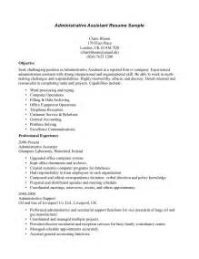 resume summary statement exles medical resume of administrative assistant