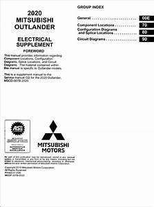 2020 Mitsubishi Outlander Wiring Diagram Manual Original