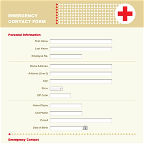 emergency contact template emergency contact form emergency alert system