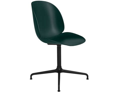 beetle dining chair with casted swivel base hivemodern