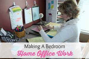 Making A Bedroom Office Work - Organize 365