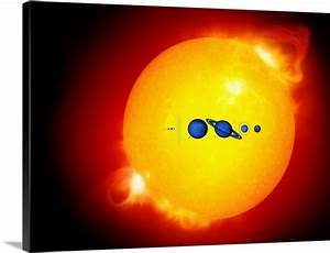 Sun and its planets Photo Canvas Print | Great Big Canvas