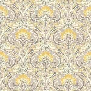 crown flora nouveau wallpaper m1195 With best brand of paint for kitchen cabinets with art nouveau wall paper
