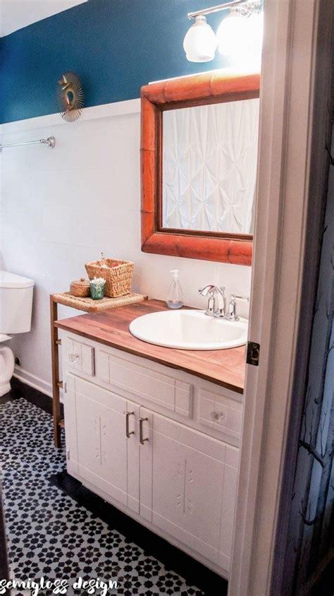 diy wood countertops   bathroom semigloss design