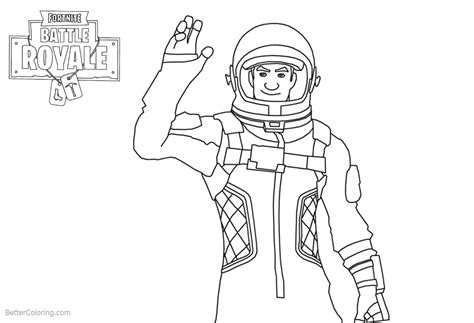 Fortnite Coloring Pages Characters Clipart