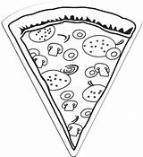 Pizza Slice Coloring Pages Magnet Printable Drawing Line Sheets Template Extralarge Cheese Ninja Chef Turtles Summer Preschool Cookie Pizzas Craft sketch template