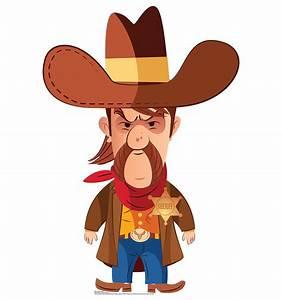 Cartoon Cowboy Sheriff Wild West Western Party Standup