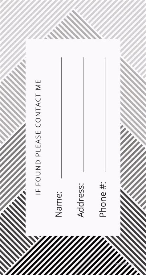 luggage tag templates  sample  format