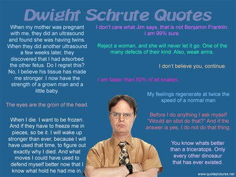 Dwight Schrute Resume Quote by Quote Pictures Dwight Schrute Quotes The Office