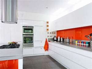 Orange kitchen colors 20 modern kitchen design and for Kitchen colors with white cabinets with pop art wall murals
