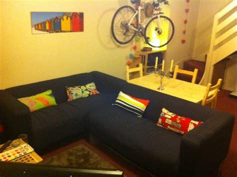 klippan corner sofa conversion  longer oak fence post legs ikea hackers