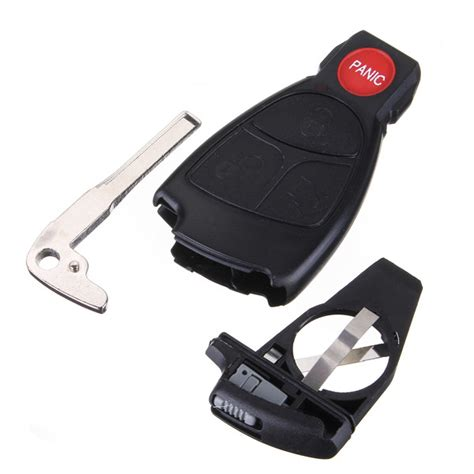 Remote Keyless Smart Key Fob Case Shell With Battery