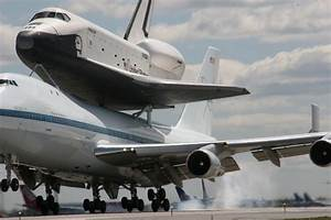 New York, NY - Space Shuttle Arrives In NYC; Crowds Watch In Awe