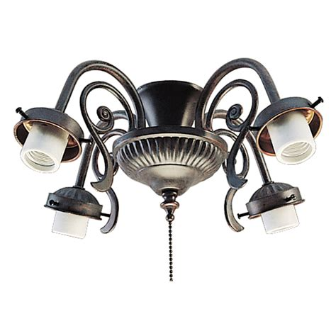 shop harbor 4 light copperstone ceiling fan light