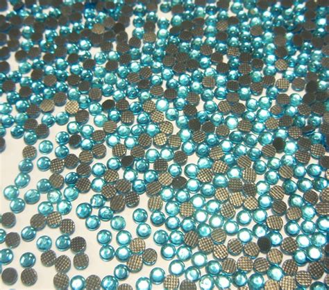 hotfix strasssteine glas blau strass stk rhinestones